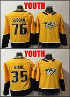 2019 شباب ناشفيل بريداتورز 76 بي. Subban 35 Pekka Rinne Hockey Jerseys Kids Boys PK Subban Stitched Jersey