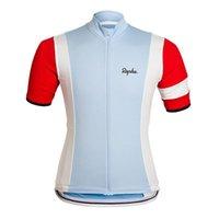 Rapha Team Mens Cycling Jersey Camisetas de manga corta Tops de bicicletas de carretera 2021 Transpirable Al aire libre Bicicleta de deportes Uniforme Ropa Ciclismo S21033123