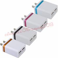 porte muro caricabatterie Dual USB 2.1A + 1A Eu US Ac caricabatterie da parete della casa di corsa adattatore di alimentazione auto per iPhone 7 8 di Samsung s6 s7 mp3