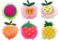 لطيف الحلوى الملونة الفاكهة شكل دش الإسفنج حمام الكرة حمام الإسفنج الخلفي الإسفنج للأطفال والفتيات