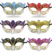 Promotion Selling Party Mask With Gold Glitter Mask Venetian...
