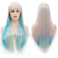 Free Shipping Long Straight Synthetic Hair Fairy princess wi...
