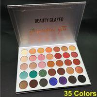Güzellik Sırlı Makyaj Göz Farı Paleti 35 Renk göz farı mat işıltılı göz farı Çarpıldı Sen paleti güzellik camlı Marka Kozmetik DHL