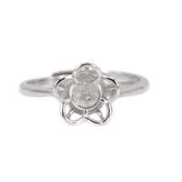 5-8 мм жемчужина или круглый обручальный бисер обручальное полукруглое кольцо для женщин стерлингового серебра 925 пробы поделок камень установка