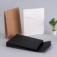 100 pçs / lote Caixas De Presente Envelope De Papel Kraft Pacote Presente Saco Para Livro / Cachecol / Roupas Documento Decoração Favor Do Casamento