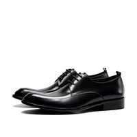 Spring Autumn Handmade Genuine Patent Leather Black Red Oxford Lace-Up Solid Dress Italian Wedding Men Formal Shoes
