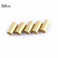 BoYuTe 100 Pcs 5.5 * 9.5 MM Metal Brass Spacer Tube Beads Conectores DIY Accesorios de joyería