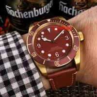 Luxury AAA Wristwatches Gold Case Black Bay Automatic Movmen...