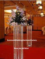 Colonnes / mandap / piliers de mariage en cristal acrylique adaptés aux besoins du client à vendre, colonne en cristal moderne de décor de mariage