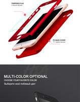 Luxus 360-Grad-Ganzkörper-Schutz-Shell-Abdeckungs-Fälle für iPhone 8 7 Plus-Telefon-Kasten Capa mit gehärtetem Glas