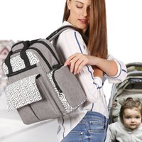 Bag Nurse multifuncional saco de fraldas grande capacidade Backpack Baby Care Travel Bag Backpack Multifuncional Mummy Backpack para recém-nascido