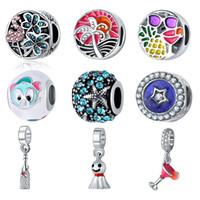 Original Bloom Animal Tred Bead cristallo smaltato pendente di fascino donne Fit Pandora bracciale braccialetti fai da te