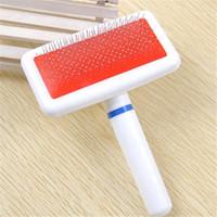 Красный Щенок Cat волос Уход Slicker Comb Gilling Кисть Quick Clean Tool Pet Brand New Promotion