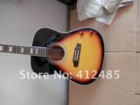 Atacado John Lennon 70th J-160E sunburst violão elétrico 6 Corda com o caso