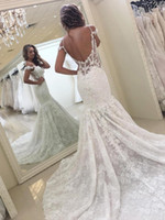 Simple Sexy Mermaid Wedding Dresses 2018 Backless Spaghetti ...