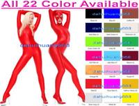 Completo Unisex Completo Body Nuovo 23 Colori Lycra Spandex Suit Catsuit Costumi Con Occhi Aperti e Bocca Unisex Sexy Body Suit Costumi DH049