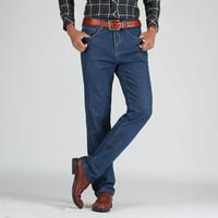 Midweight Erkekler Pamuk Düz Klasik Jeans İlkbahar Sonbahar Erkek kot pantolon tulumları Tasarımcı Erkekler Jeans Yüksek Kaliteli büyüklüğü 28 -44