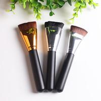 1 pc professionnel pinceaux de maquillage 3 couleur cosmétique plat contour pinceau visage mélange mélange de maquillage noir or bronzage pinceaux de maquillage