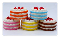 Kawaii Squishy Slow Rising Strawberry Cake scented Squeeze S...