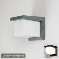 110V 220V 알루미늄 IP65 품질 방수 LED 벽 조명 램프기구 피팅 유럽 현대 간단한 광장 야외