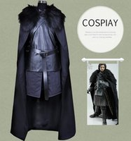 Serie TV americana Game of Thrones Costume Cosplay Jon Snow Cosplay Cavaliere Giochi di ruolo Costume Halloween