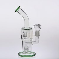 Green Glass Bongs 24cm Joint 18. 8mm Double Birdcage Percolat...