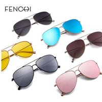 FENCHI Sunglasses Mulheres Driving Pilot seis cores dos óculos de sol de alta qualidade metal Óculos grife