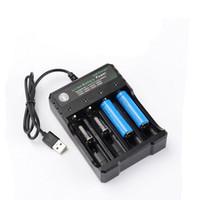 Lithium-Akkuladegerät mit USB-Kabel 4 Ladesteckplätze 18650 26650 18490 Wiederaufladbare Akkus Ladegerät Besser Nitecore US / UK / EU / AU Stecker