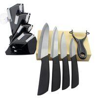 3 4 5 6in Black Edge Keramikmesser Set Schwarz Griff Schäl Obst Obst Utility Chef Home Küchenmesser