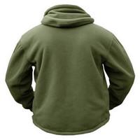 Chaqueta de lana táctica militar de invierno con cuello en O para hombres Ropa de ejército polar cálida Ropa de abrigo de múltiples bolsillos Abrigo con capucha térmica informal