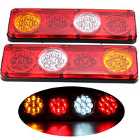 2 Pcs 36 LEDs Car Rear Tail Lights Stop Brake Lights Warning...