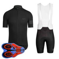 Equipo de Rapha Ciclismo Mangas cortas (bib) conjuntos de pantalones cortos Traje de bicicleta de primavera y verano para hombres Ropa de bicicleta de secado rápido para hombres 92811J