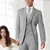 Latest Coat Pant Designs Light Grey Wedding Suits for Men Gr...