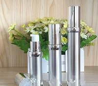 15ml 20ml 30ml Or Argent Vide Airless Pompe Récipient Voyage Metal Essential Lotion Crème Bouteille Cosmétique Avec Pompe