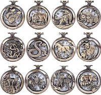 Wholesale 50pcs lot Mix 12 designs Animals Dial Pendant Neck...
