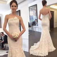 2019 New Arrival Full Lace Mermaid Wedding Dresses Vestidos ...