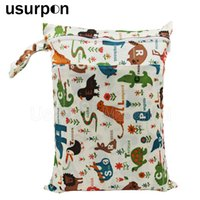 [usurpon] 1 pc 30*40 cm double pocket wet bag nappy bag and ...