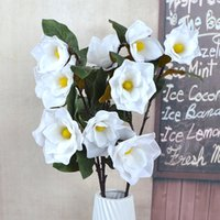 Artificial Magnolia Silk Flower Artificial Plants Branch Fle...