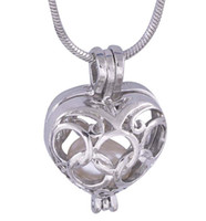 New fashion Peach Heart with The Olympic Rings Shape Pearl Pendant 18kgp Lovely Cute Jewelry Charms P17