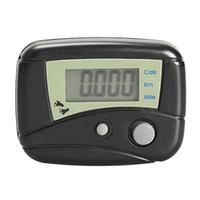 LCD Dijital Pedometre Adım Sayacı Yürüyüş Mesafesi Kalori Sayacı Pasometre Siyah