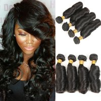 Indian Virgin Human Hair 4 Bundles 9A Human Hair Weaves Exte...