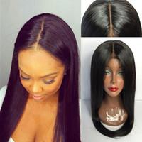 Cabello humano encaje lleno 150 densidad de seda pelucas de seda virgen brasileño base de seda peluca pelo humano pelo con cabello bebé blanqueado nudos