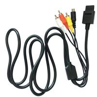 S-AV композитный S-Video RCA Аудио Видео AV кабель шнур свинца для N64 SNES GameCube NGC высокое качество быстрый корабль