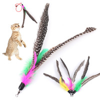 5pcs lot Bird Feather Wand Cat Kitten Interactive Toys Pet C...