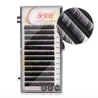 Macio comprimento único 8mm-15mm Extensões de cílios individuais 0.05 Espessura Silk Eyelashes B / C / D Volume Cílios