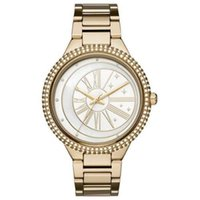 New Fashion Women' s Watch Crystal Rose Gold 6551 Gold 6...
