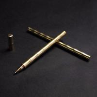 Edc جل التكتيكية ماركر القلم النمط الكلاسيكي الدفاع الذاتي للانفصال النحاس معدن اليدوية جل القلم السفر كيت
