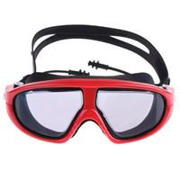 Natação profissional Goggles Anti-Fog UV ajustável chapeamento Homens Mulheres Waterproof Silicone Óculos Adulto Eyewear