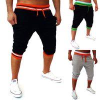 Hombres Harem Capri Baggy Bermuda Masculina Mma Shorts Mezclas de algodón Fitness Shorts de entrenamiento Hombre Bodybuilding Jogger Shorts M -2xl