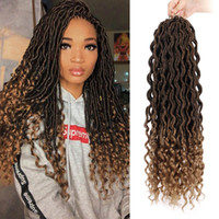 Hot! Goddess Locs Crochet Braids 18 Inch Soft Natural Kaneka...